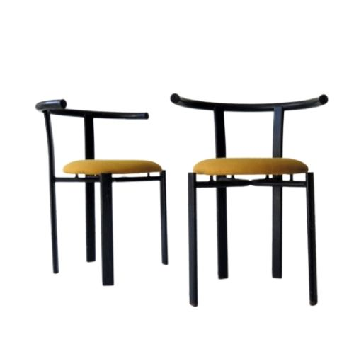 Set of 2 Post-Modern armchairs, 1980s