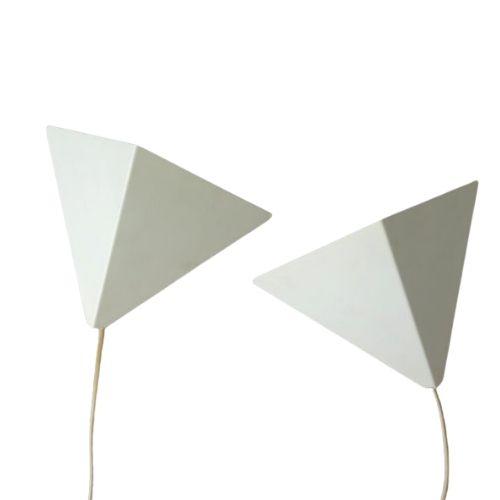 Set of 2 danish wall lamps, Horn