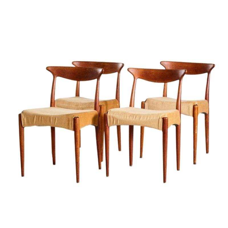 Set of 4 Teak Dining Chairs by Arne Olsen Hovmand, 1960s
