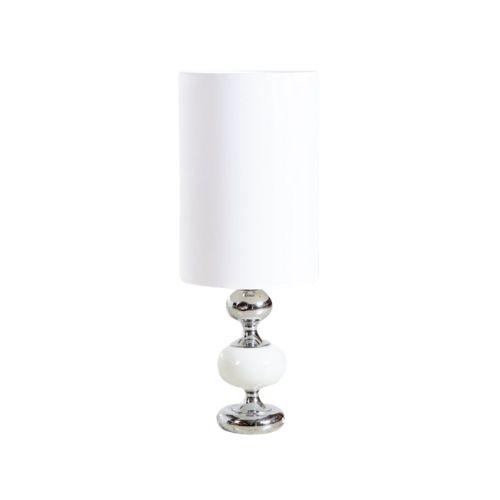 White Chrome Floor or Table Lamp, 1960s