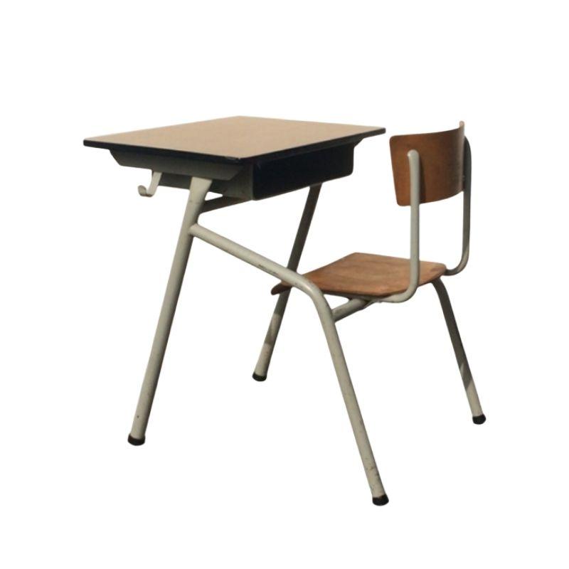 60s : 70s Vintage school desk TUBAX style