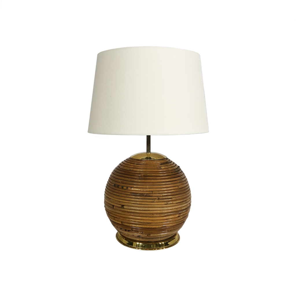 Bamboo Crespi Style brass table lamp