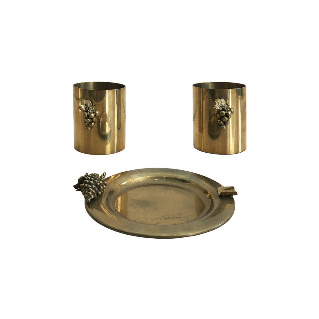 Maison Charles brass grapes desk set gabriella crespi