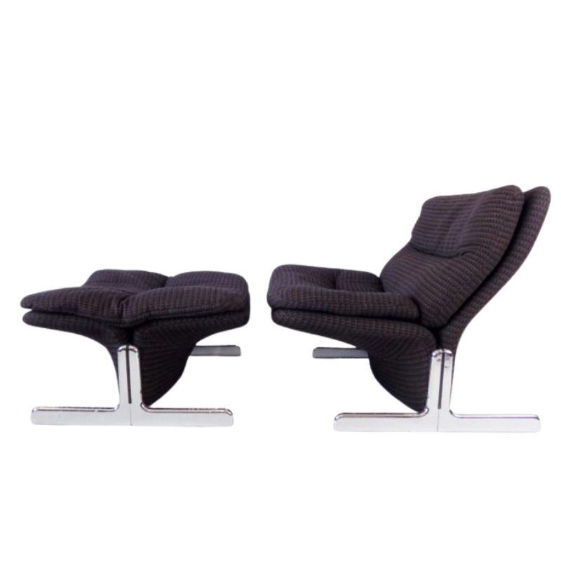 Brunati Sandwich lounge chair with ottoman by Ammanati & Vitelli