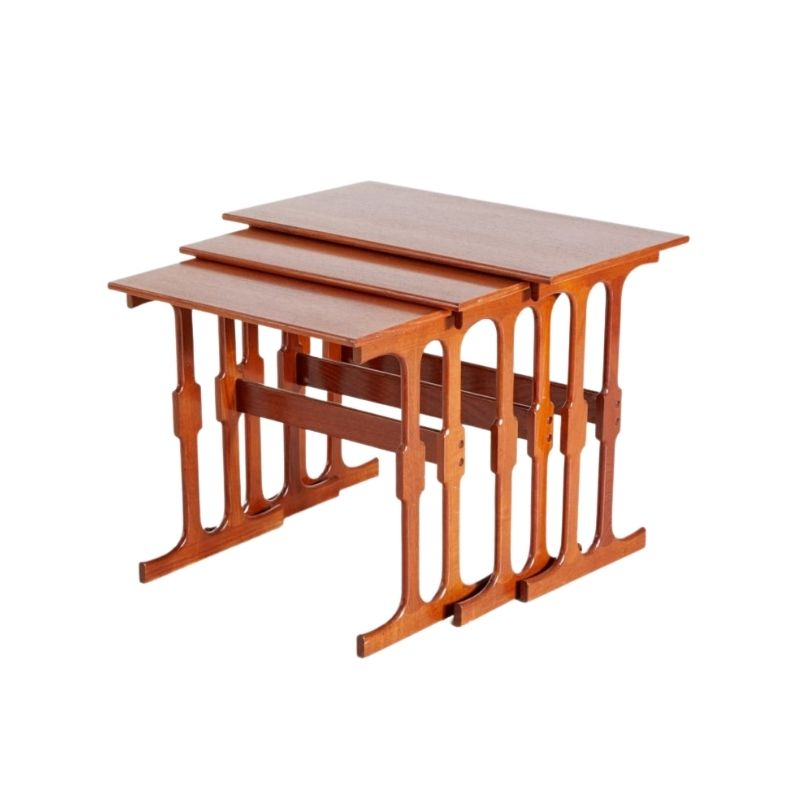 Danish Teak Nesting Tables from CFC Silkeborg, 1960s, Set of 3