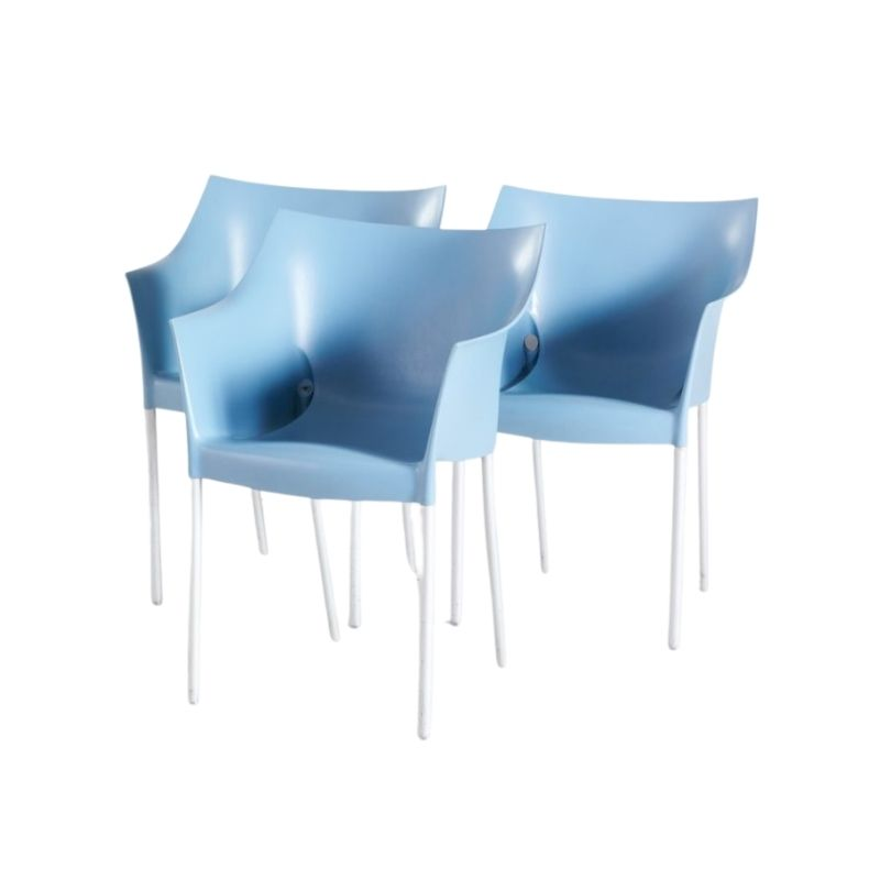 Dr. No Side Chair by Philippe Starck for Kartell, 1990s, Set of 3