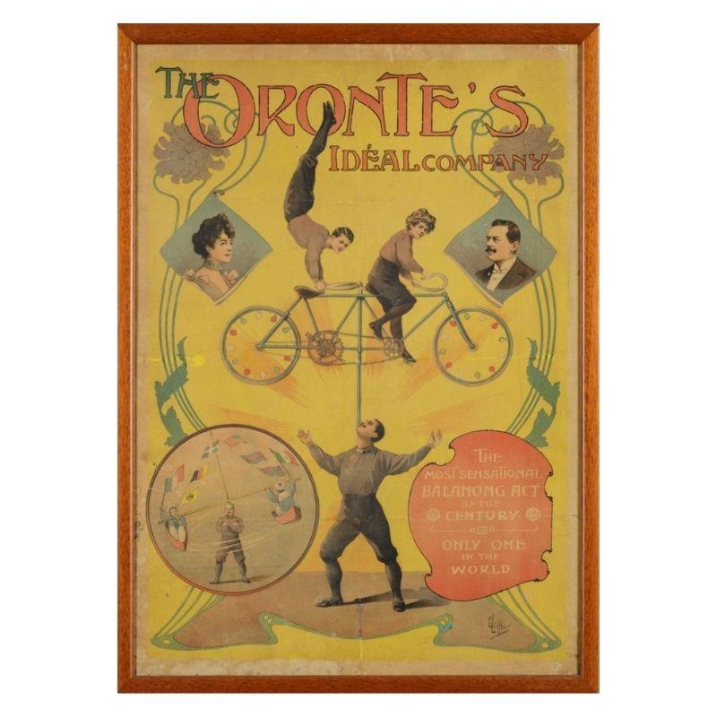 """E. Löffler, """"The Oronte's Ideal Company"""", Framed Original manifesto, c. 1900"""
