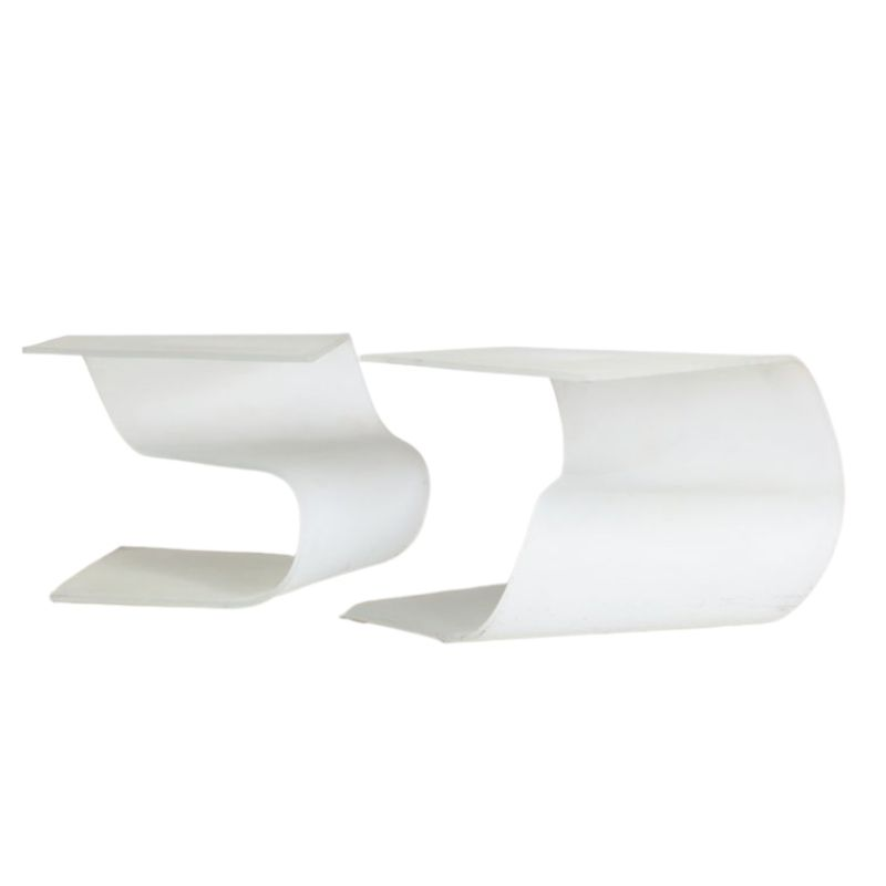 Frosted Glass Coffee Tables, 1980s, Set of 2