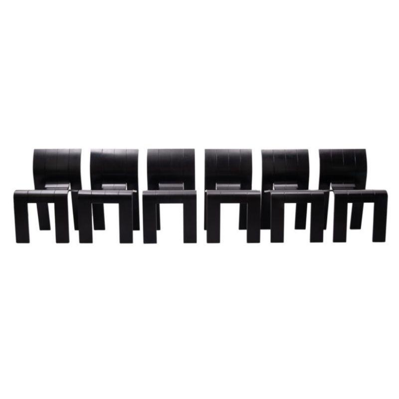 Gijs Bakker 6 Strip Chairs, 1970s