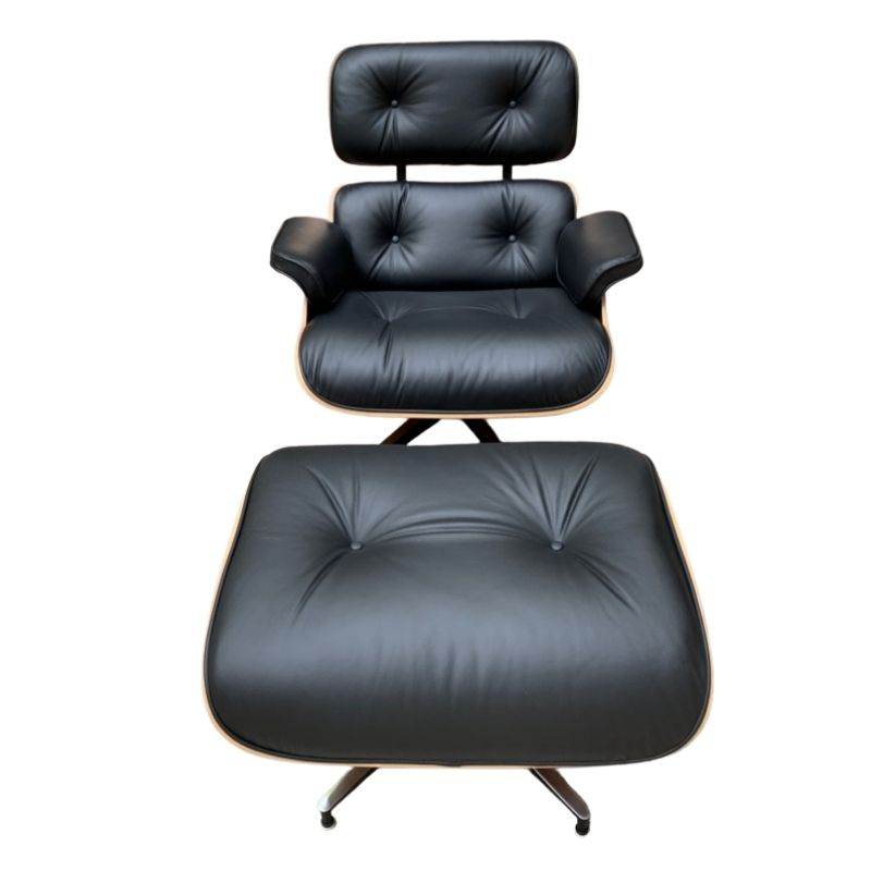 Lounge Chair and Ottoman Charles Eames 2011 : Black Leather