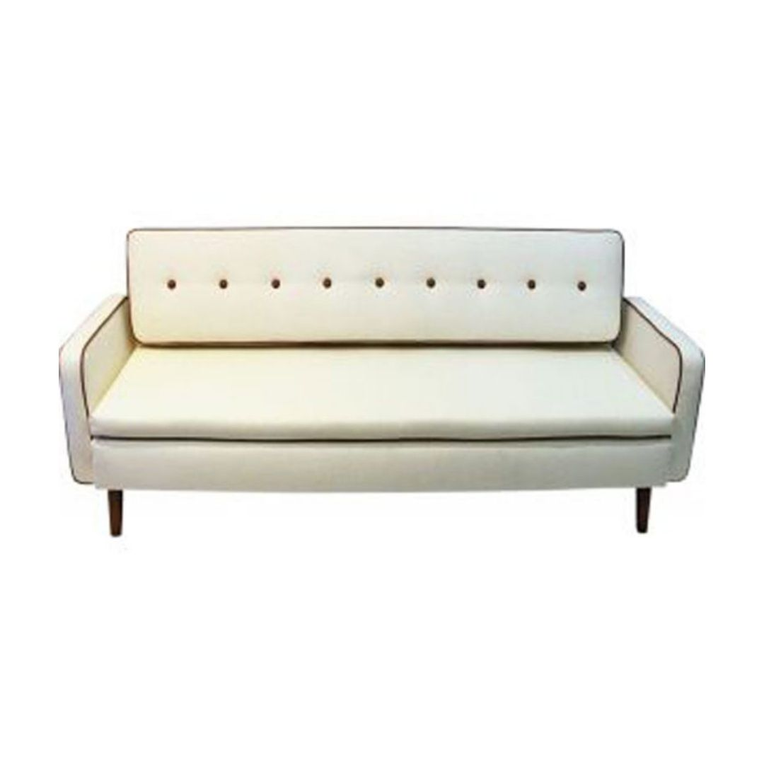 Lovely Sofa and Daybed of white wool by Ire Möbler 1950s Sweden