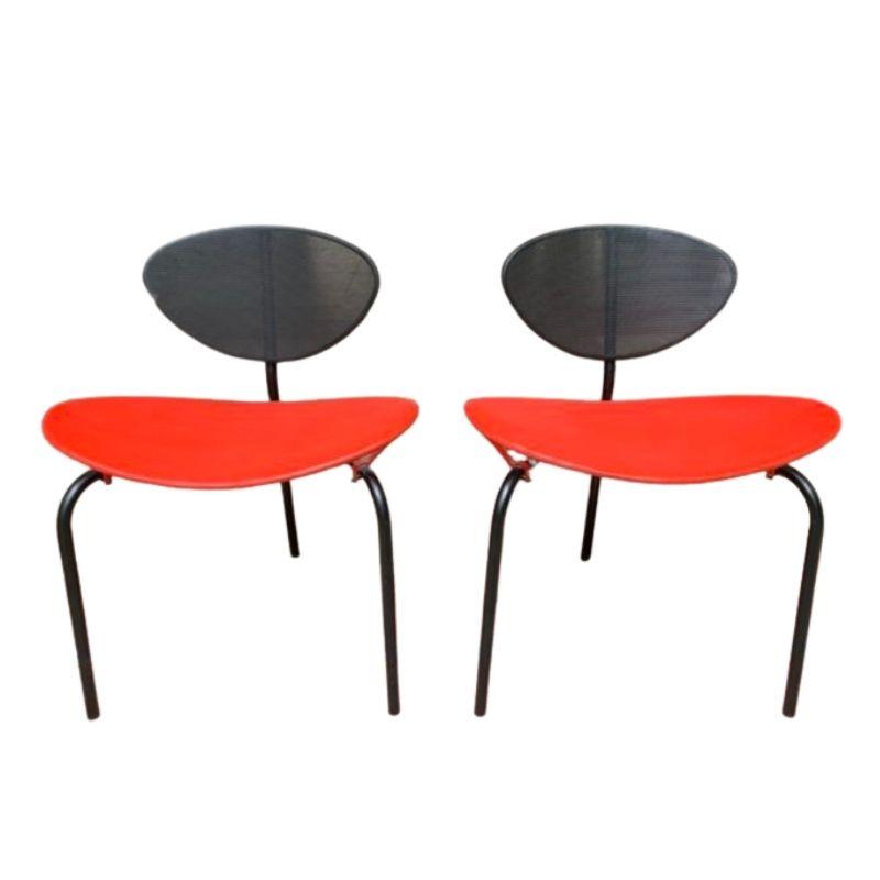 "Pair of ""Nagasaki"" tripod chairs by Mathieu Matégot 1954"