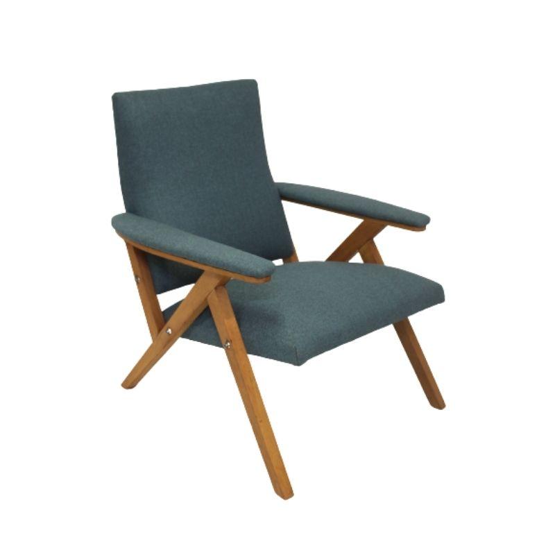 Scandinavian beechwood armchair from the 60's