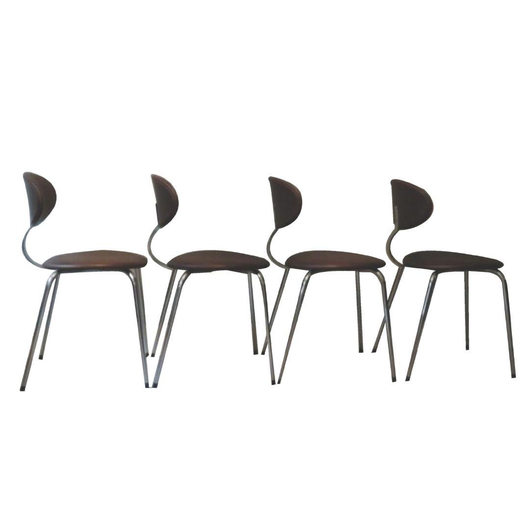 Set of chairs by Rudi Verhelst for Novalux Belgium 1970s