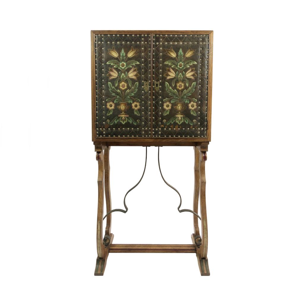 Spanish Revival Drinks Cabinet Vintage Art Nouveau Deco Boho Victorian Antique