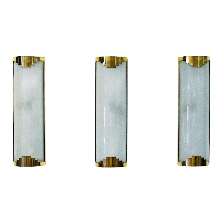 Set of three Art Deco Wall lamps from the 1930-1940s