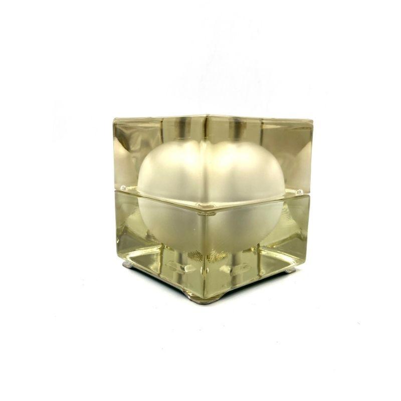 Alessandro Mendini, Cubosfera table lamp, Fidenza Vetraria, 1969