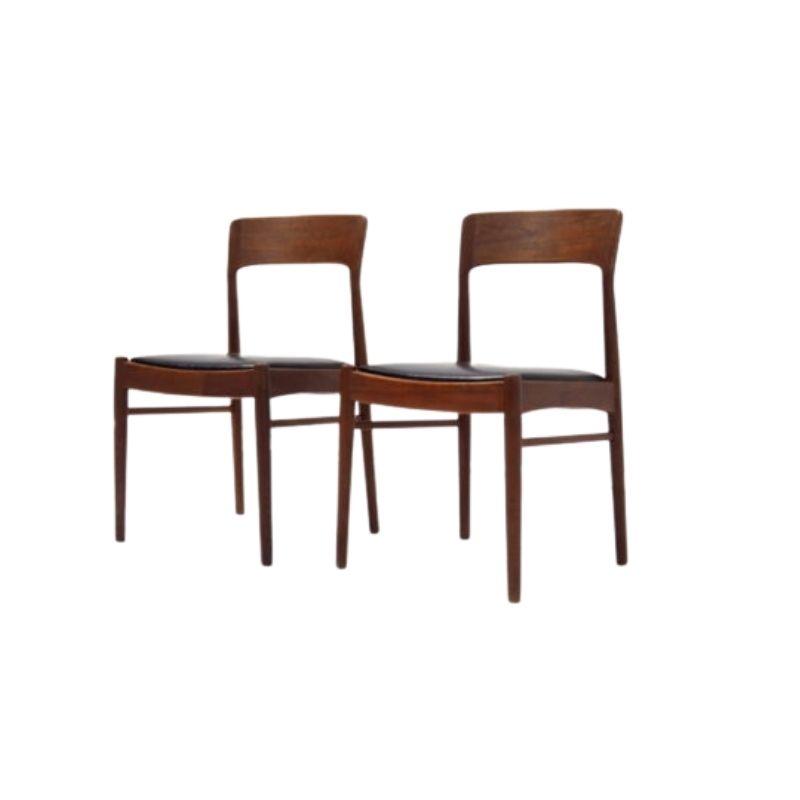 Danish chairs by Henning Kjaernulf for Korup Stolefabrik