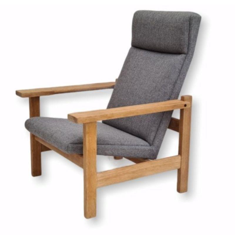 Danish design by H.J.Wegner, GE 163a, armchair, oak, 70s, furniture wool, renovated