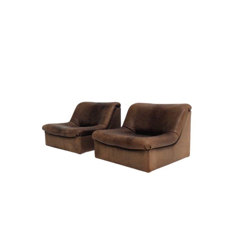 Set of DS46 De Sede seats in leather