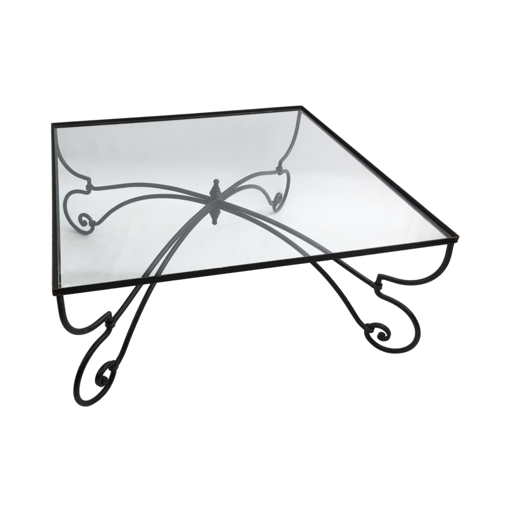 Forged Iron Frame coffee table