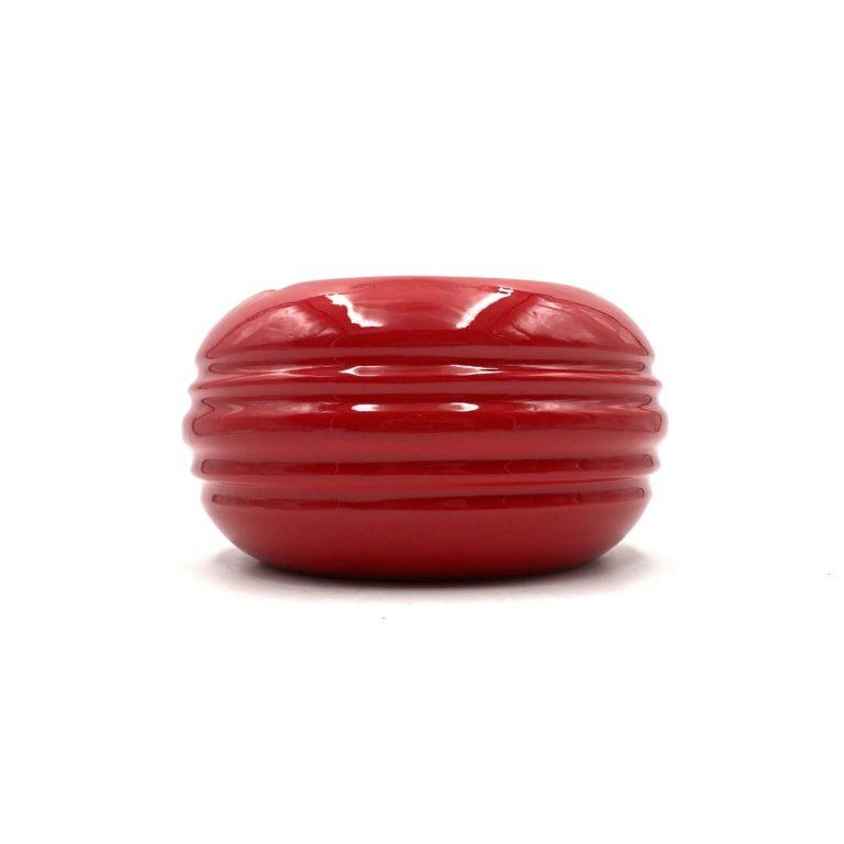 Pino Spagnolo, Large Red ceramic Ashtray, Sicart, 1970s