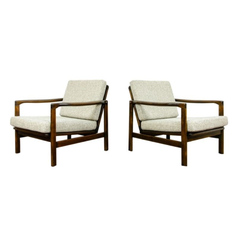 Pair of B-7522 armchairs by Zenon Bączyk