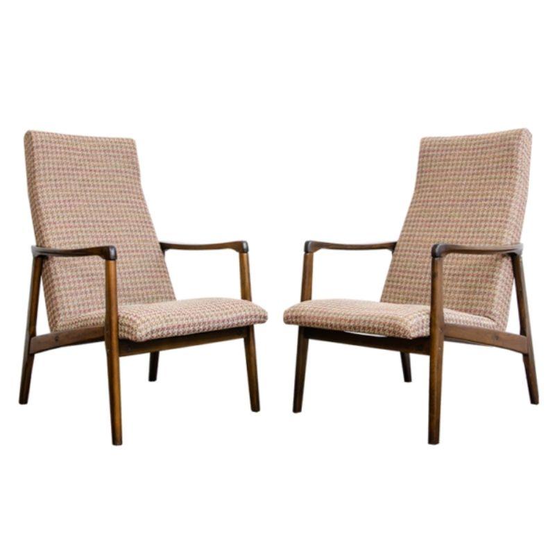 Pair of Mid-Century armchairs, Czechoslovakia, 1960's
