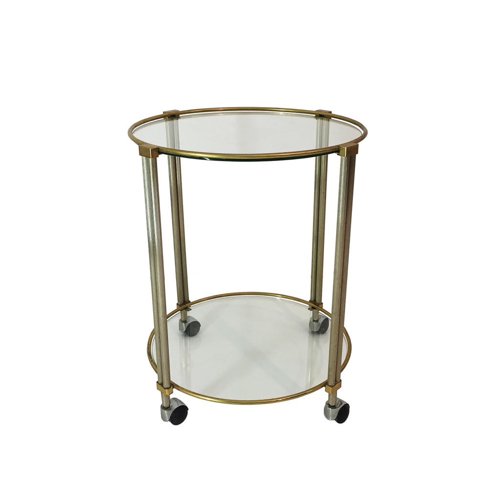 Round drinks cart table