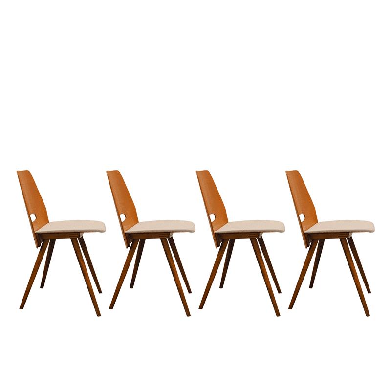 Set of 4 chairs by František Jirák, 1960's