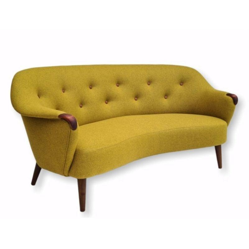 1960s, Danish design, restored-reupholstered sofa, furniture wool