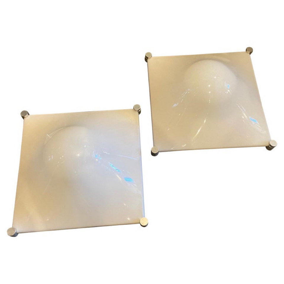1960s Set of two Elio Martinelli Space Age Bolla Wall Lights