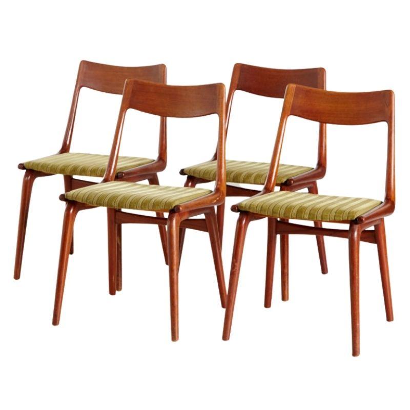 Boomerang dining chairs by Erik Christensen for Slagelse Mobelvaerk, set of 4