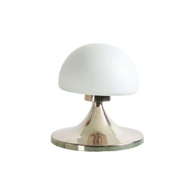 Chrome framed table lamp