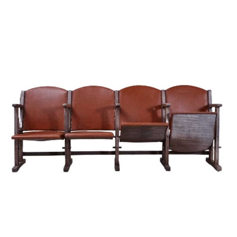 Cinema chair with faux leather upholstery
