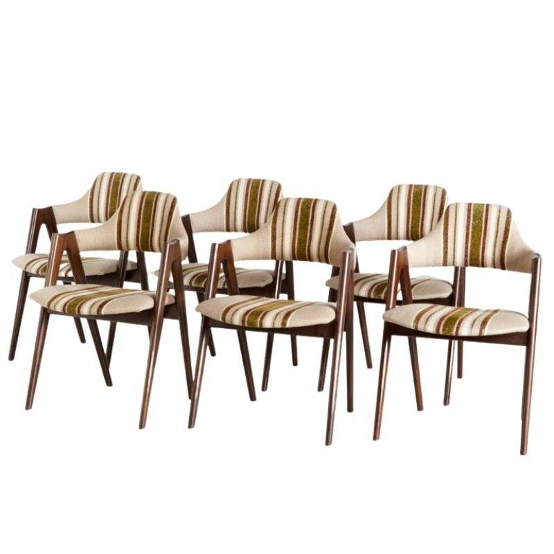 Compass dining chairs by Kai Kristiansen for SVA Mobler, set of 6
