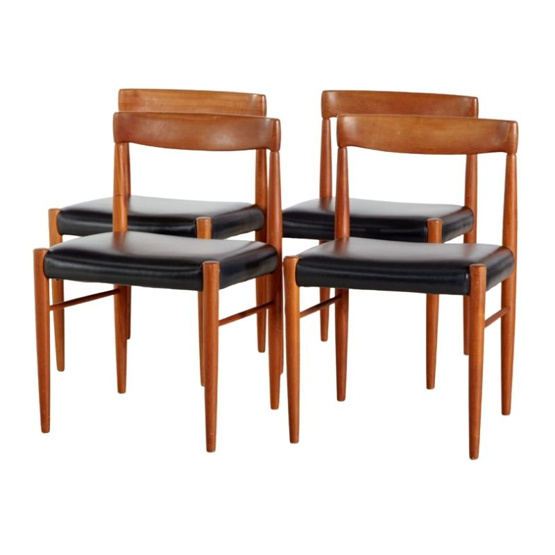 Henry Walter Klein dining chairs for Bramin, set of 4