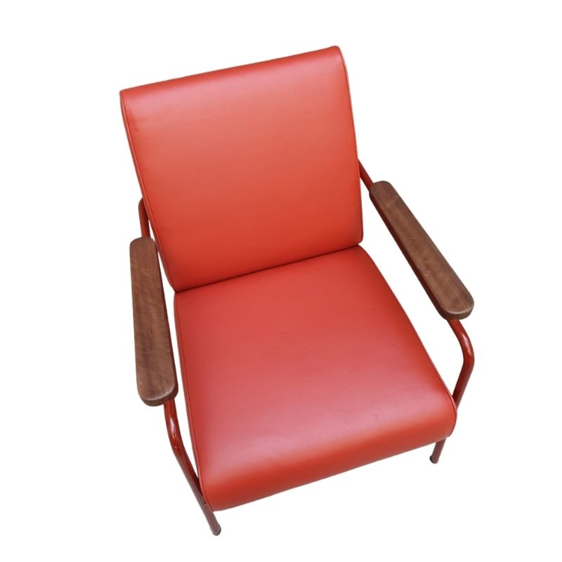 Jean Prouvé Red lounge chair Vitra edition 2019