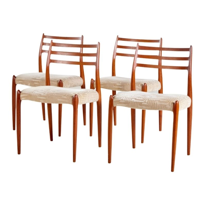 Model 78 dining chairs by Niels O. Moller for J.L. Mollers, set of 4