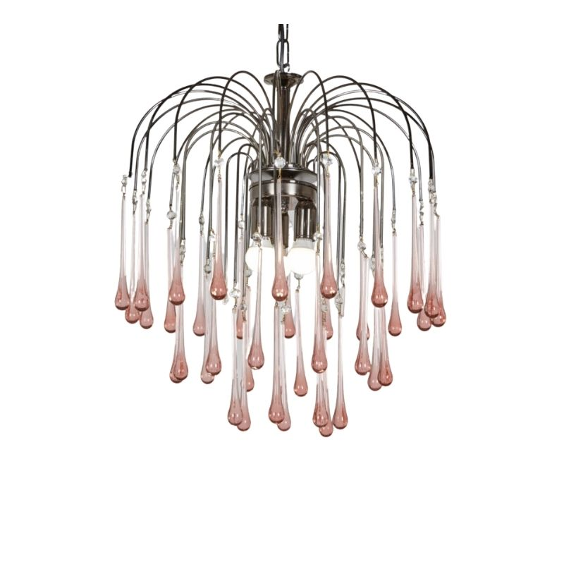 Murano glass chandelier by Paolo Venini for Eurolux
