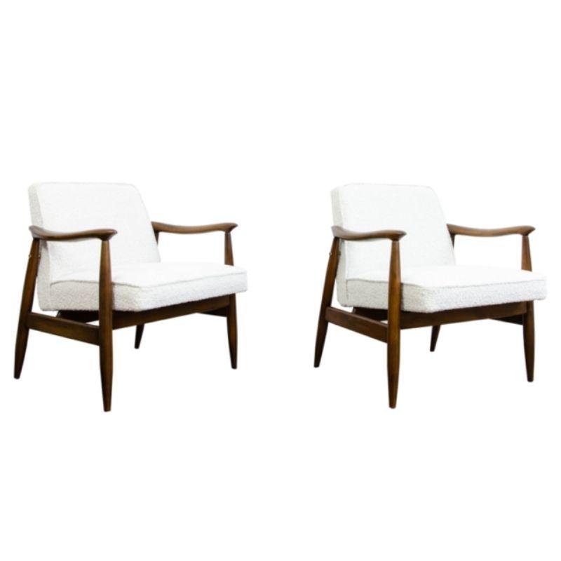 Pair of GFM 87 Type 300 203 armchairs By Juliusz Kędziorek 1960's