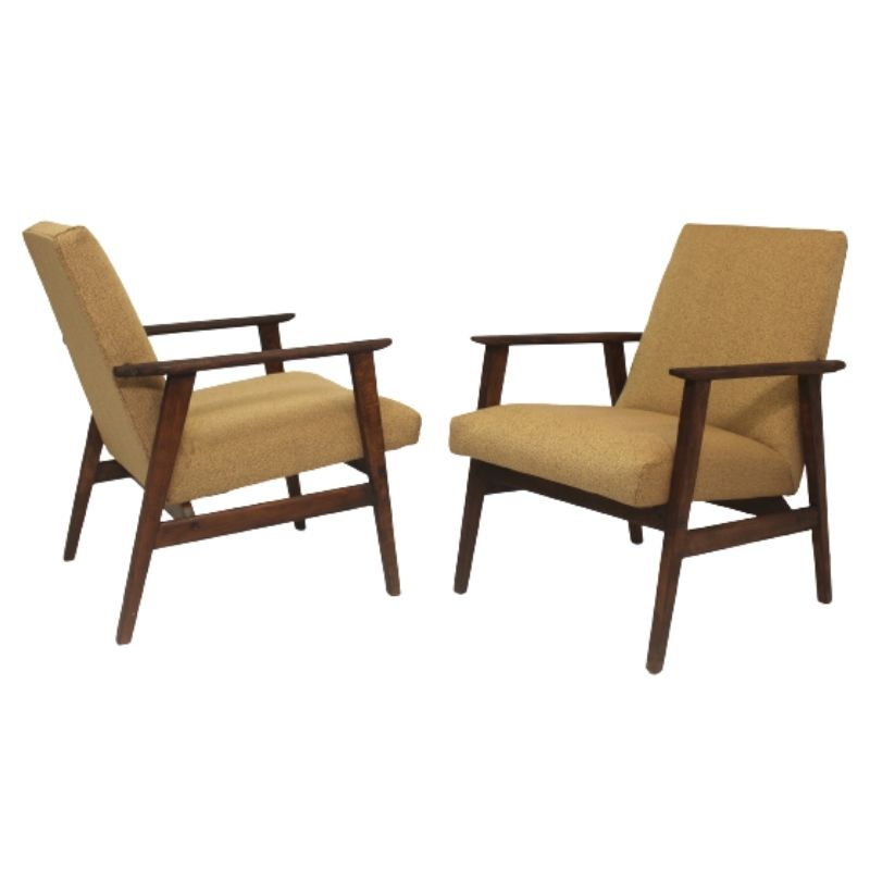 Pair of armchairs designed by Henryk Lis 1970.