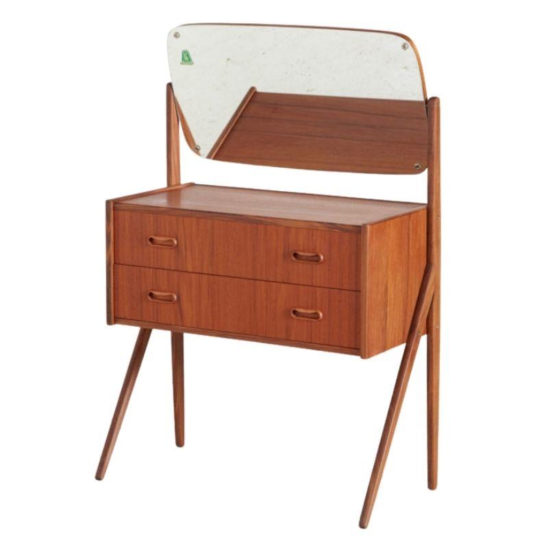 Restored teak dressing table