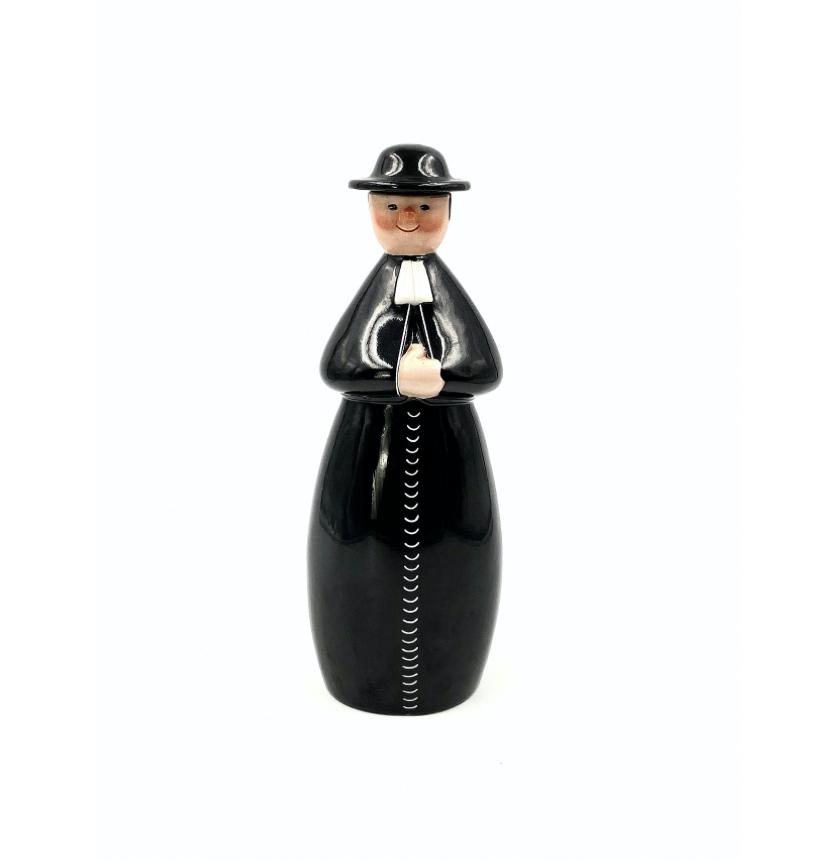 'Le Curé', Art Deco Benedictine figure bottle, Robj Paris, France, 1920s