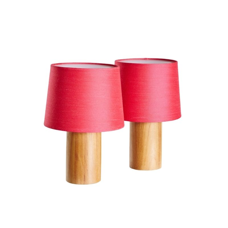 Swedish teak table lamp