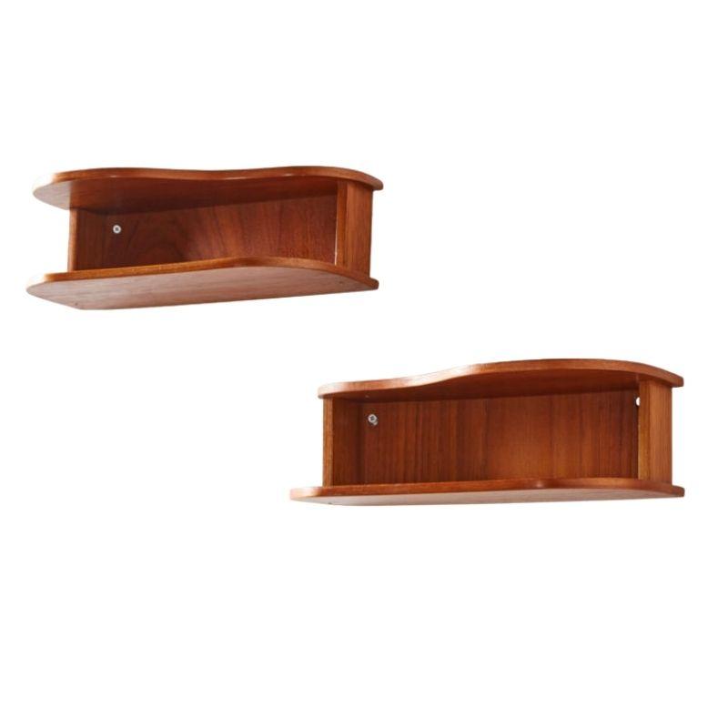 Teak bedside cabinet set