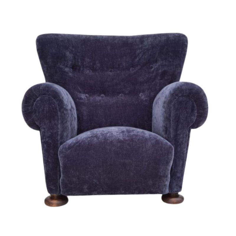 50s, Danish design, renovated relax armchair, retro velor