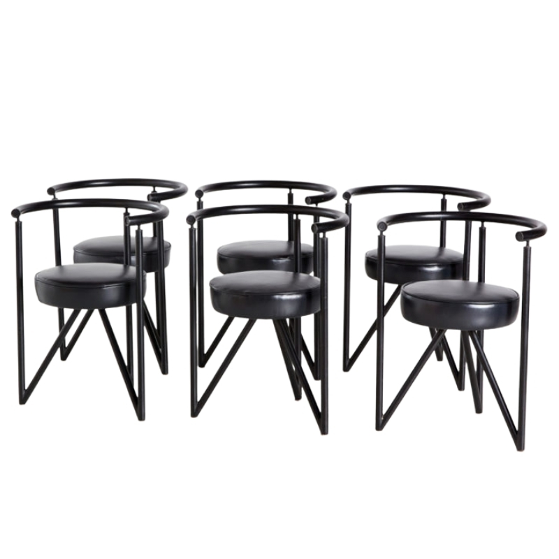 Miss Dorn armchairs by Philippe Starck, set of 6