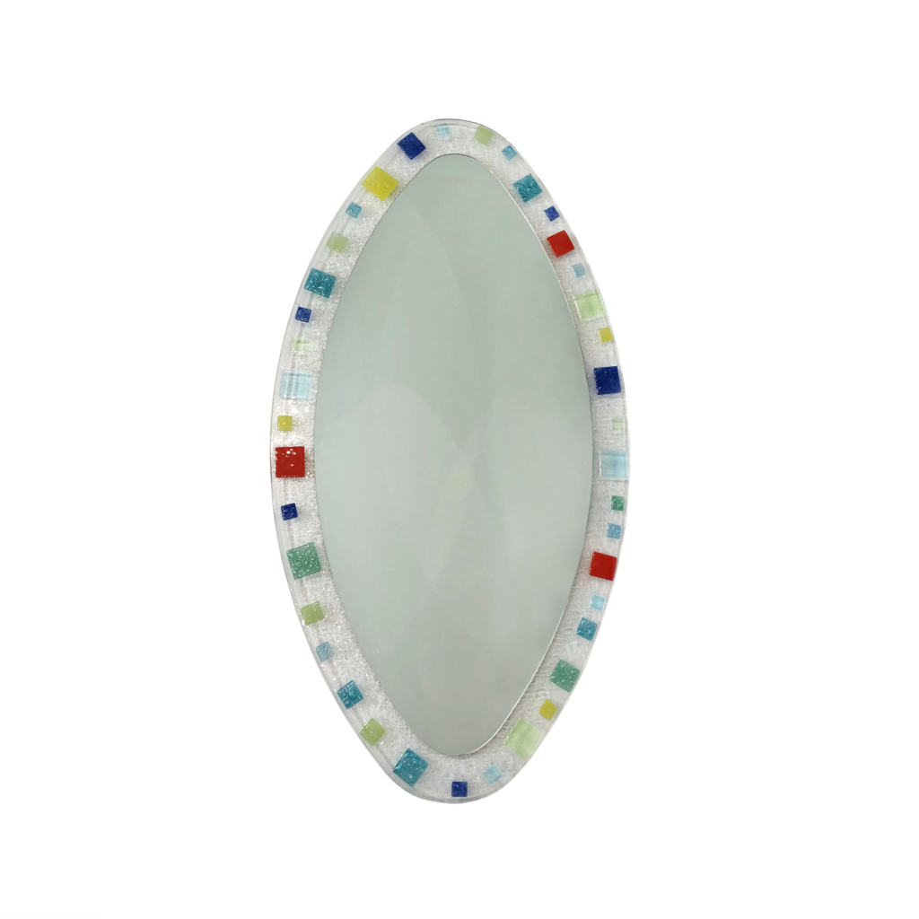 Murano glass mirror vintage 1980s 70s vintage