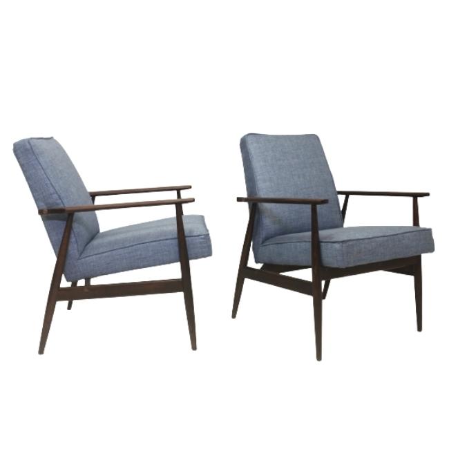 Pair of vintage armchairs 300-190 by H. Lis 1970